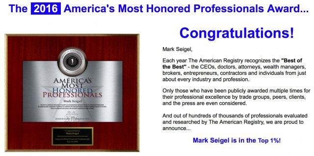 Professionals award 2016